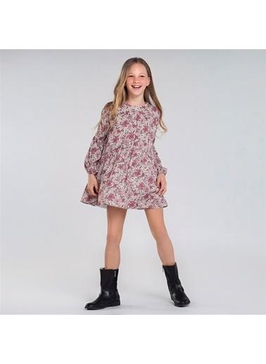Mayoral Mayoral Kız Çocuk Baskılı Elbise Mor